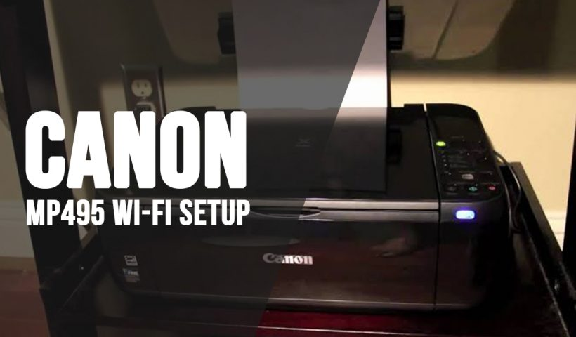 mp495 wifi setup